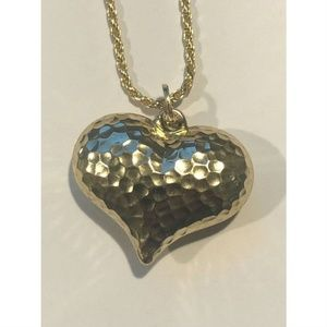 HarlemBling 14k Yellow Gold Heart Love Necklace